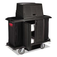 RCP 9T19BLA Rubbermaid Commercial Full-Size Housekeeping Cart RCP9T19BLA