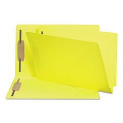 SMD 28940 Smead Heavyweight Colored End Tab Folders with Fasteners SMD28940