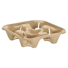 HUH 20938 Chinet StrongHolder Molded Fiber Cup Trays HUH20938
