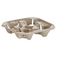 HUH 20973 Chinet  StrongHolder  Molded Fiber Cup Trays HUH20973