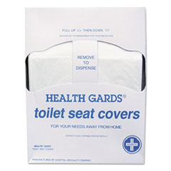 HOS HGQTR5M HOSPECO Health Gards Quarter-Fold Toilet Seat Covers HOSHGQTR5M