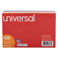 UNV 47236 Universal Recycled Index Strong 2 Pt. Stock Cards UNV47236