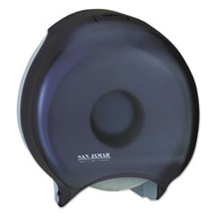 SJM R6000TBK San Jamar Single Jumbo Bath Tissue Dispenser SJMR6000TBK