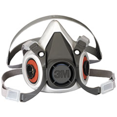 MMM 07025 3M Half Facepiece Respirator 6000 Series, Reusable MMM07025