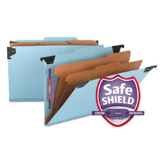 SMD 65165 Smead Hanging Pressboard Classification Folders with SafeSHIELD Coated Fasteners SMD65165