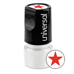 UNV 10081 Universal Pre-Inked One-Color Round Stamp UNV10081