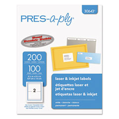 AVE 30643 PRES-a-ply Labels AVE30643