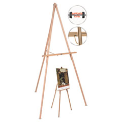 BVC FLX06203MV MasterVision Oak Display Tripod Easel BVCFLX06203MV