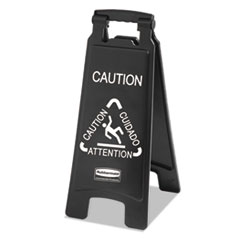 RCP 1867505 Rubbermaid Commercial Executive 2-Sided Multi-Lingual Caution Sign RCP1867505