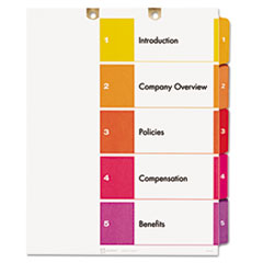 AVE 13157 Avery Preprinted Tab Dividers for Classification Folders AVE13157
