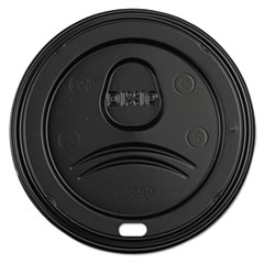 DXE D9550B Dixie Sip-Through Dome Hot Drink Lids DXED9550B