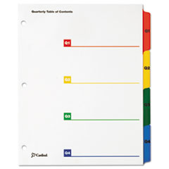 CRD 60940 Cardinal OneStep Printable Table of Contents and Dividers - Double Column CRD60940