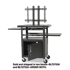 BLT 27532 BALT Two-Shelf Height Adjustable Flat Panel TV Cart BLT27532