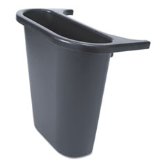 RCP 295073BLA Rubbermaid Commercial Saddle Basket Recycling Bin RCP295073BLA