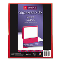 SMD 87916 Smead Organized Up Stackit Folder in Textured Stock SMD87916