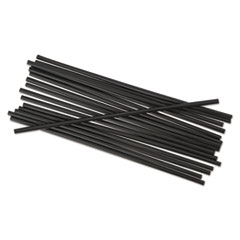 BWK STRU525B10PK Boardwalk Unwrapped Single-Tube Stir-Straws BWKSTRU525B10PK