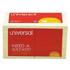 UNV 35688 Universal Self-Stick Note Pads UNV35688