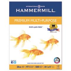 Premium Multipurpose Paper, 20-lb., 8-1/2 x 11, White, 5000/Carton