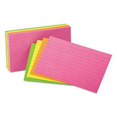 UNV 47237 Universal Ruled Neon Glow Index Cards UNV47237