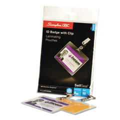 SWI 3745686 Swingline SelfSeal Self-Adhesive Laminating Pouches & Single-Sided Sheets SWI3745686