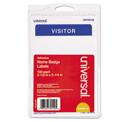 UNV 39110 Universal Self-Adhesive Name Badges UNV39110