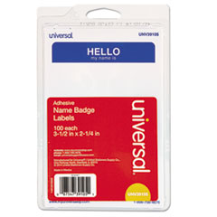 UNV 39105 Universal Self-Adhesive Name Badges UNV39105