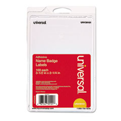UNV 39101 Universal Self-Adhesive Name Badges UNV39101
