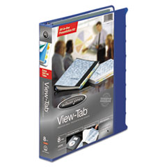 WLJ 55096 Wilson Jones View-Tab Presentation Round Ring View Binder With Tabs WLJ55096