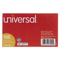 UNV 47200 Universal Recycled Index Strong 2 Pt. Stock Cards UNV47200