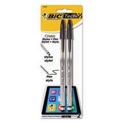 BIC MSSP21BK BIC Cristal 2-in-1 Stylus Ballpoint Pen BICMSSP21BK
