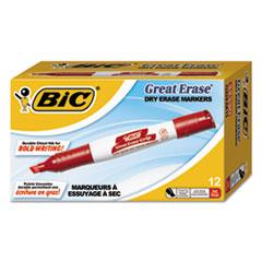 BIC GDEM11RD BIC Great Erase Grip Chisel Tip Dry Erase Marker BICGDEM11RD