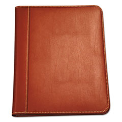 SAM 71716 Samsill Contrast Stitch Leather Padfolio SAM71716
