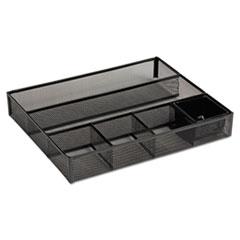 Deep Desk Drawer Organizer, Metal Mesh, Black