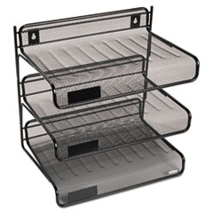 ROL 22341 Rolodex Mesh Three-Tier Desk Shelf ROL22341