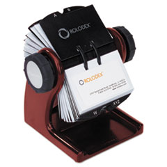 ROL 1734242 Rolodex Wood Tones Open Rotary File ROL1734242