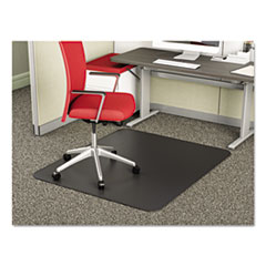 DEF CM14242BLK deflecto SuperMat Frequent Use Chair Mat for Medium Pile Carpeting DEFCM14242BLK