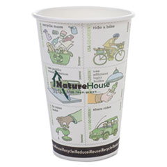 SVA C010RNPK NatureHouse Compostable Insulated Paper/PLA Corn Plastic Lined Hot Cups SVAC010RNPK