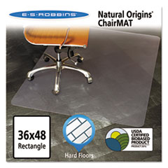ESR 143007 ES Robbins Natural Origins Biobased Chair Mat for Hard Floors ESR143007