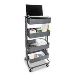 VRT VF51025 Vertiflex Adjustable Multi-Use Storage Cart and Stand-Up Workstation VRTVF51025