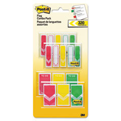 "MMM 682RYGVA Post-it Flags 1/2"" & 1"" Flag Value Pack MMM682RYGVA"