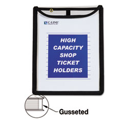 CLI 39912 C-Line High Capacity Stitched Shop Ticket Holders CLI39912