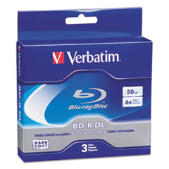 VER 97237 Verbatim Blu-Ray BD-R Recordable Dual-Layer Disc VER97237
