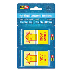 RTG 72046 Redi-Tag Spanish Pop-Up Arrow Flags RTG72046