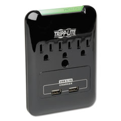 TRP SK30USB Tripp Lite Protect It! Three-Outlet, 2.1 Amp Two USB Surge Suppressor TRPSK30USB