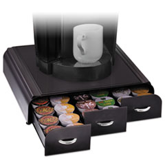 EMS TRY01BLK Mind Reader Anchor Triple Drawer Single-Serve Coffee Organizer EMSTRY01BLK