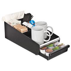 EMS ORG01BLK Mind Reader Vesta Condiment Organizer with Single-Serve Pod Drawer EMSORG01BLK