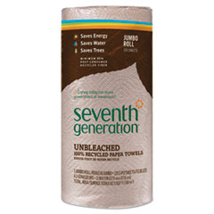SEV 13720RL Seventh Generation Natural Unbleached 100% Recycled Paper Towels SEV13720RL
