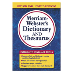 MER 7326 Merriam Webster Paperback Dictionary and Thesaurus MER7326