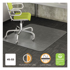 DEF CM13243COM deflecto DuraMat Moderate Use Chair Mat for Low Pile Carpeting DEFCM13243COM