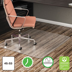 DEF CM21242COM deflecto EconoMat Non-Studded All Day Use Chair Mat for Hard Floors DEFCM21242COM